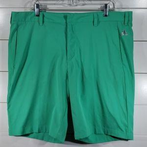 Adidas Green Golf Shorts Size 38 Men's